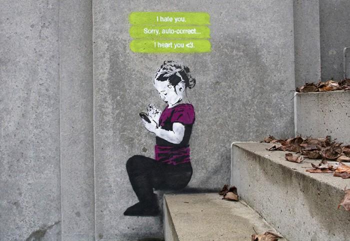 Αποτέλεσμα εικόνας για Banksy για τα παιδιά και τα social media.